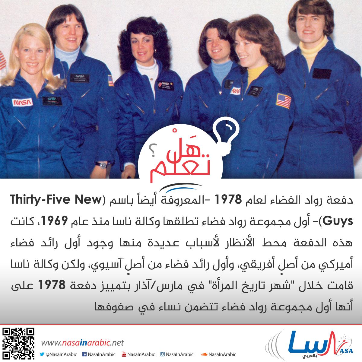أول مجموعة رواد فضاء تتضمن نساء في صفوفها