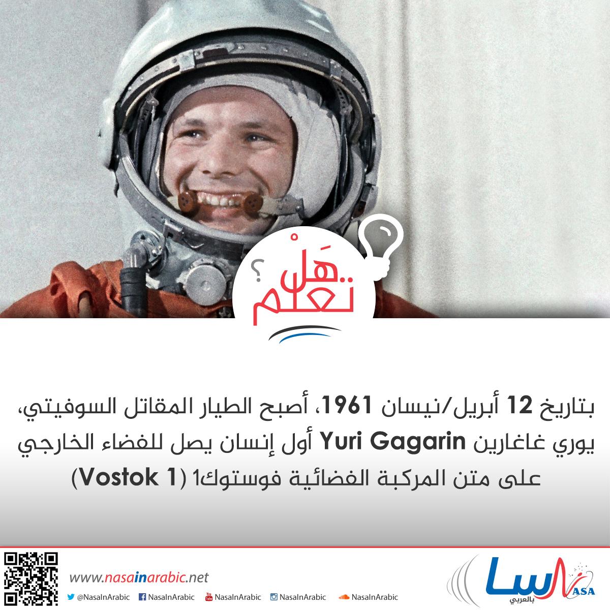 أول إنسانٍ في الفضاء