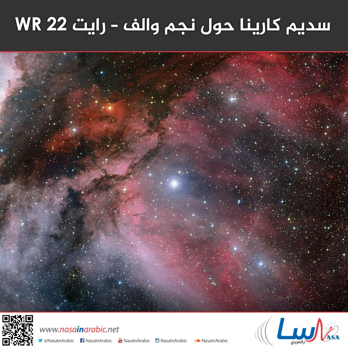 سديم كارينا حول نجم والف – رايت WR 22