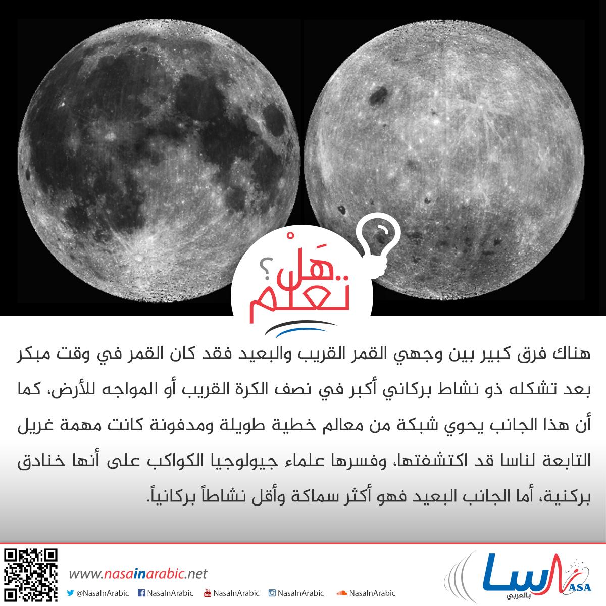 الفرق بين وجهي القمر