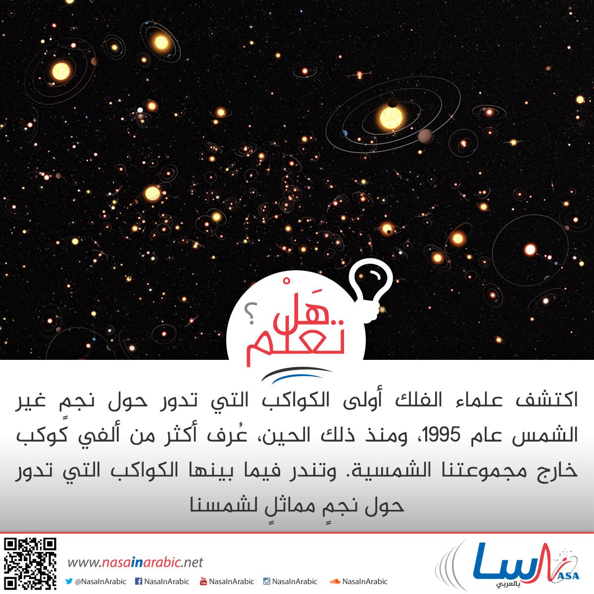 أول الكواكب التي تدور حول نجم غير الشمس