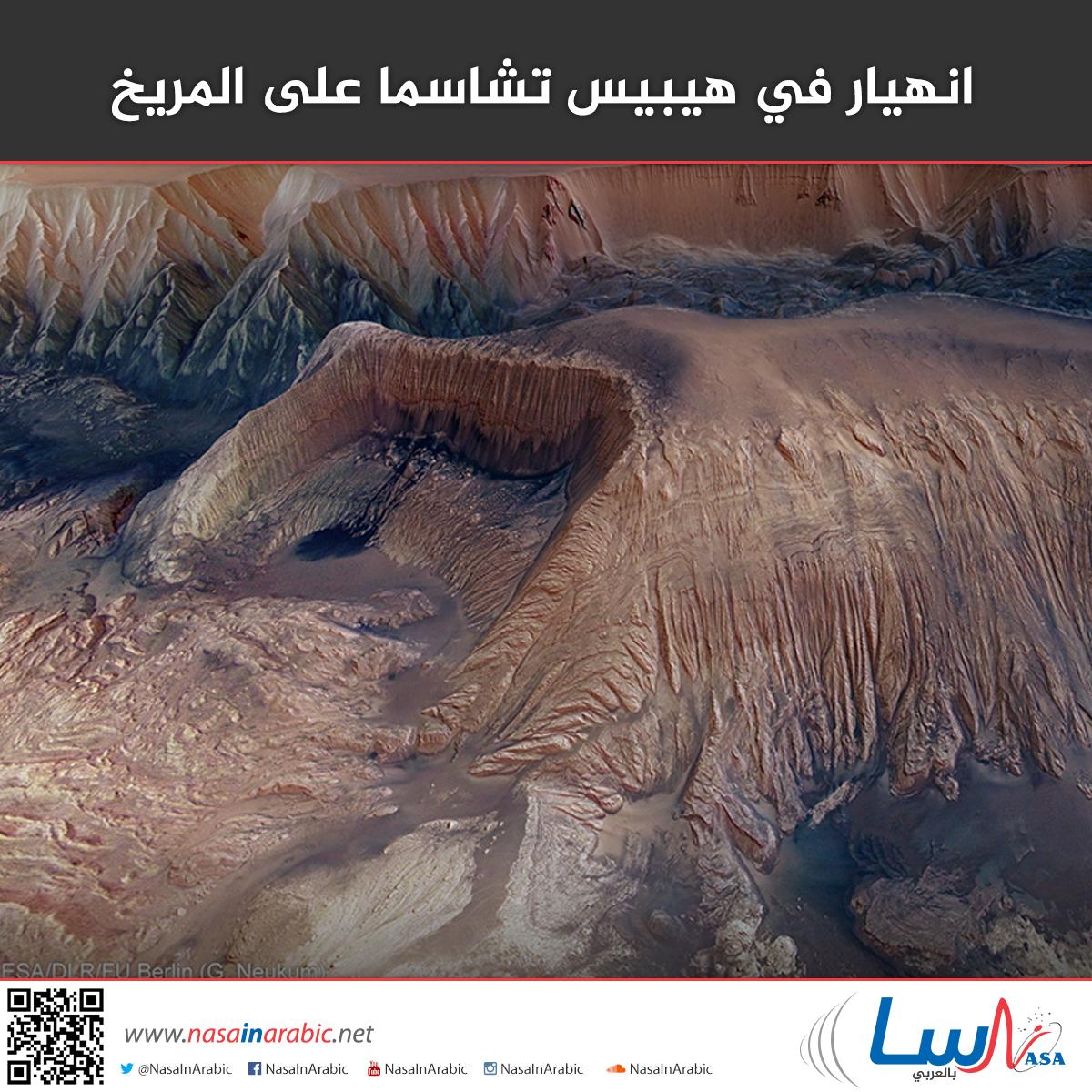 انهيار في هيبيس تشاسما على المريخ