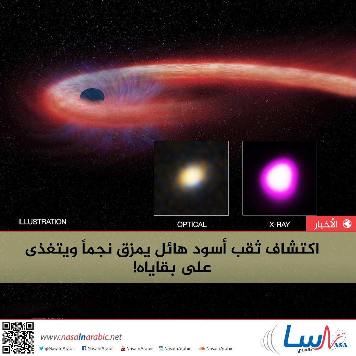 اكتشاف ثقب أسود هائل يمزق نجماً ويتغذى على بقاياه!