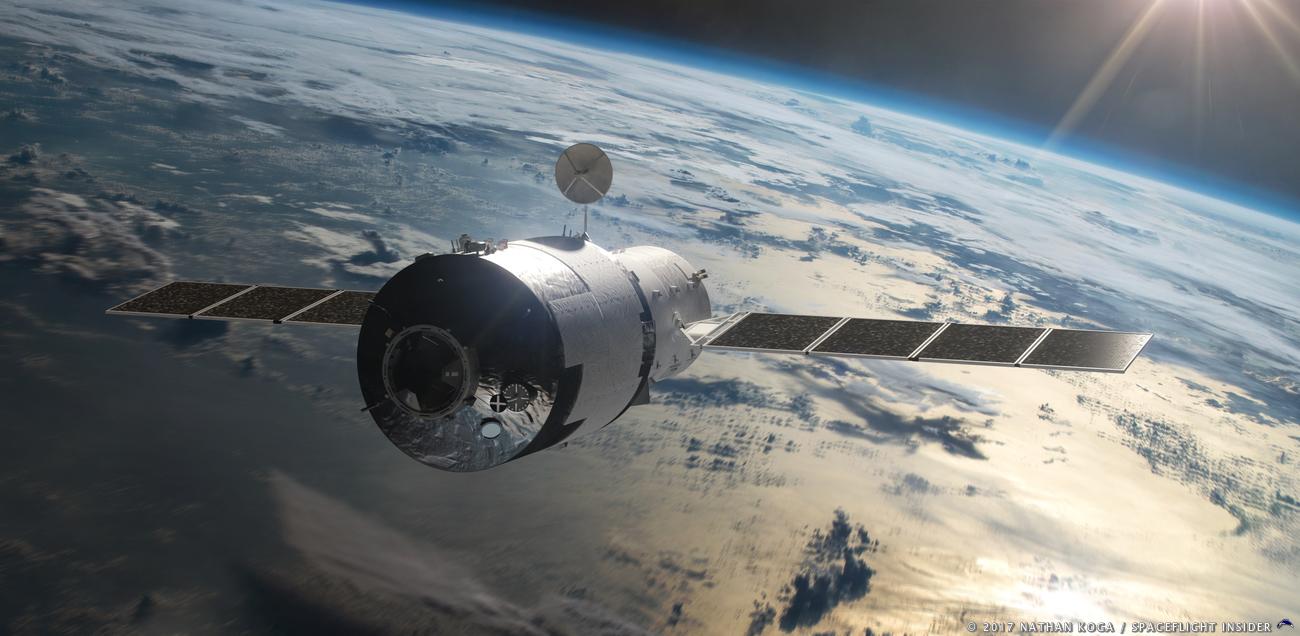المحطة الفضائية الصينية تيانغونغ-1 بدأت بالسقوط