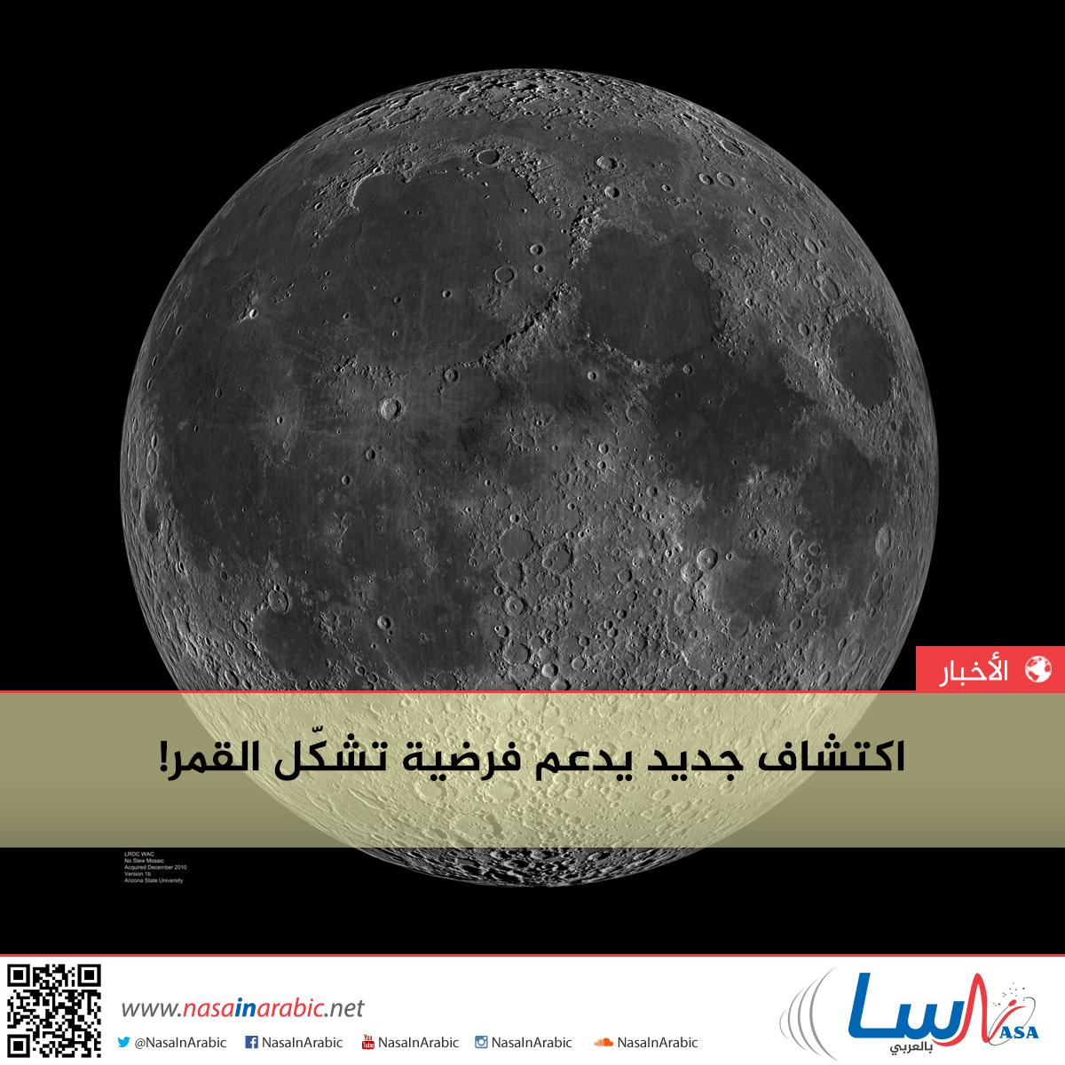 اكتشاف جديد يدعم فرضية تشكّل القمر!