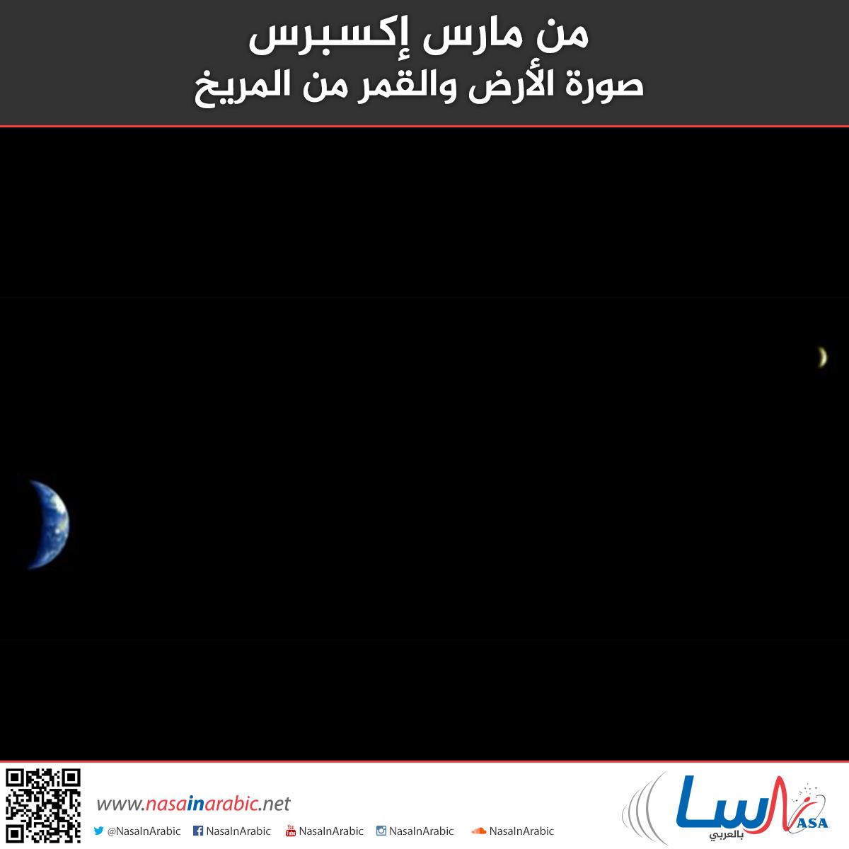 من مارس إكسبرس: صورة الأرض والقمر من المريخ