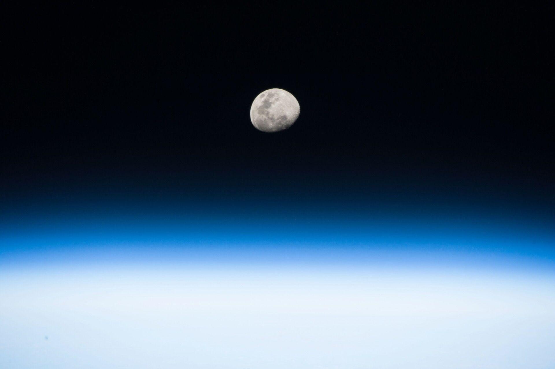 القمر من المحطة الدولية