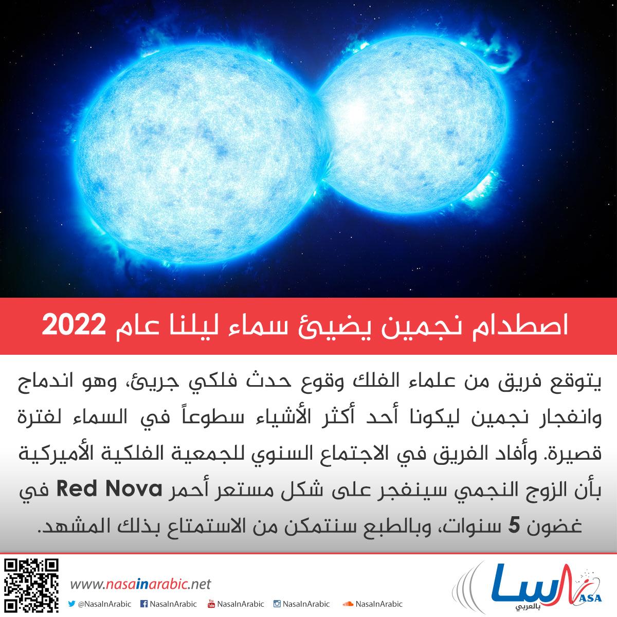 اصطدام نجمين يضيئ سماء ليلنا عام 2022