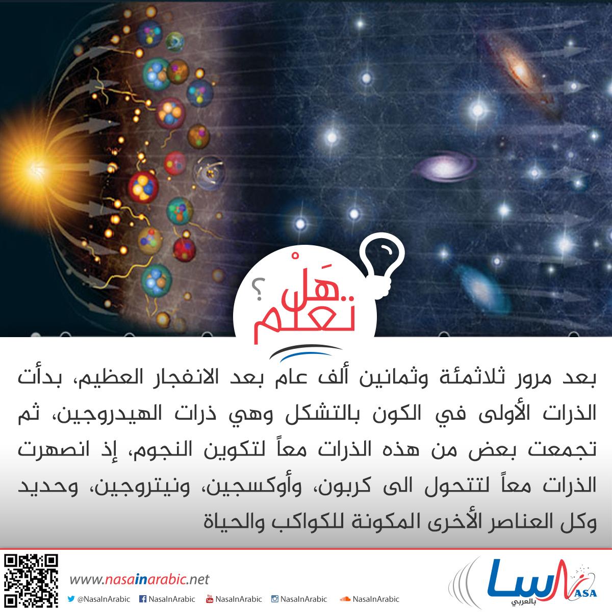 الذرات الأولى في الكون