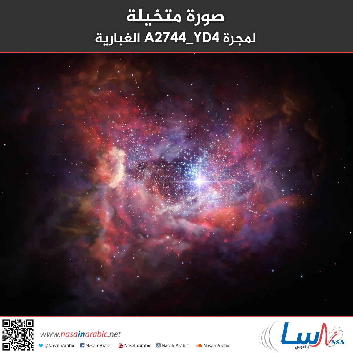 صورة متخيلة لمجرة A2744_YD4 الغبارية