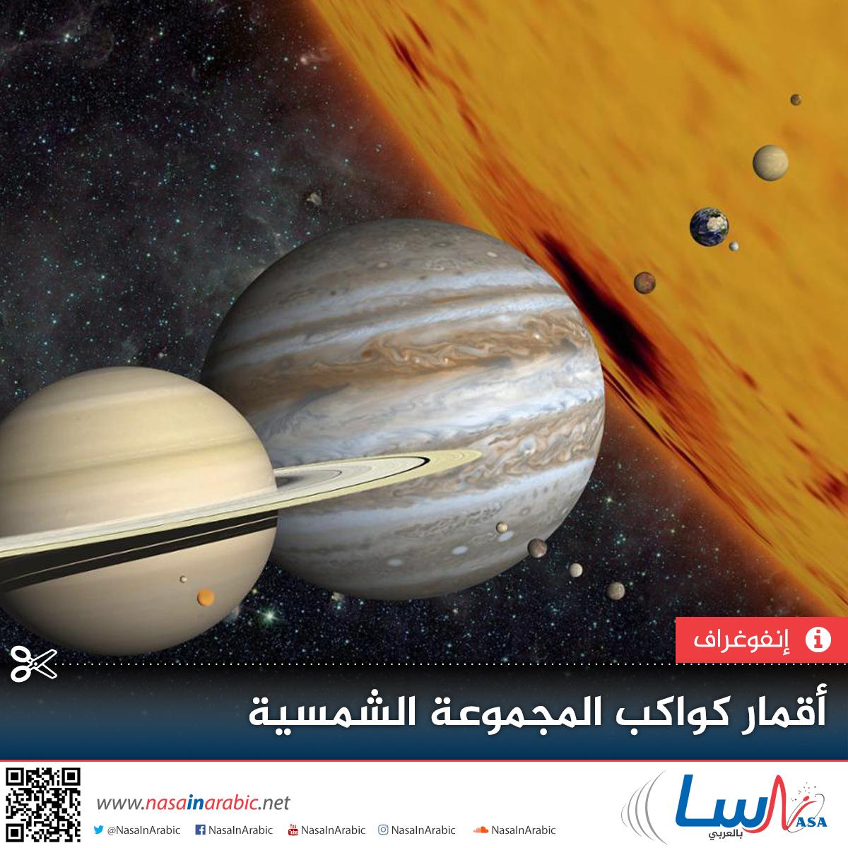 ناسا بالعربي عدد الأقمار في كواكب المجموعة الشمسية