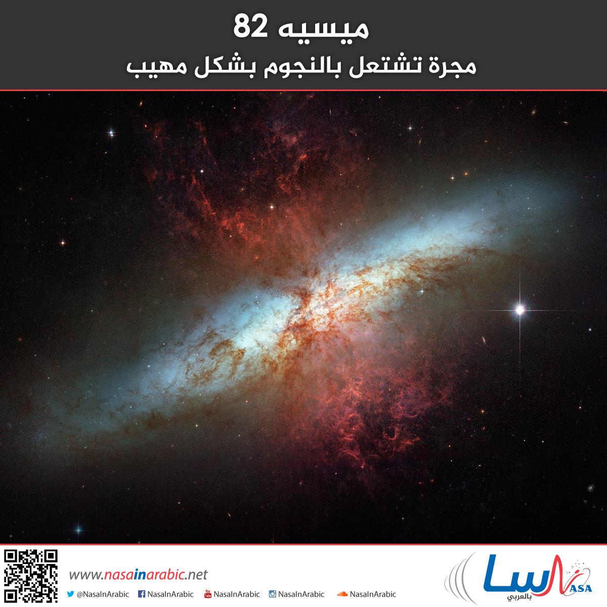ميسيه 82: مجرة تشتعل بالنجوم بشكل مهيب