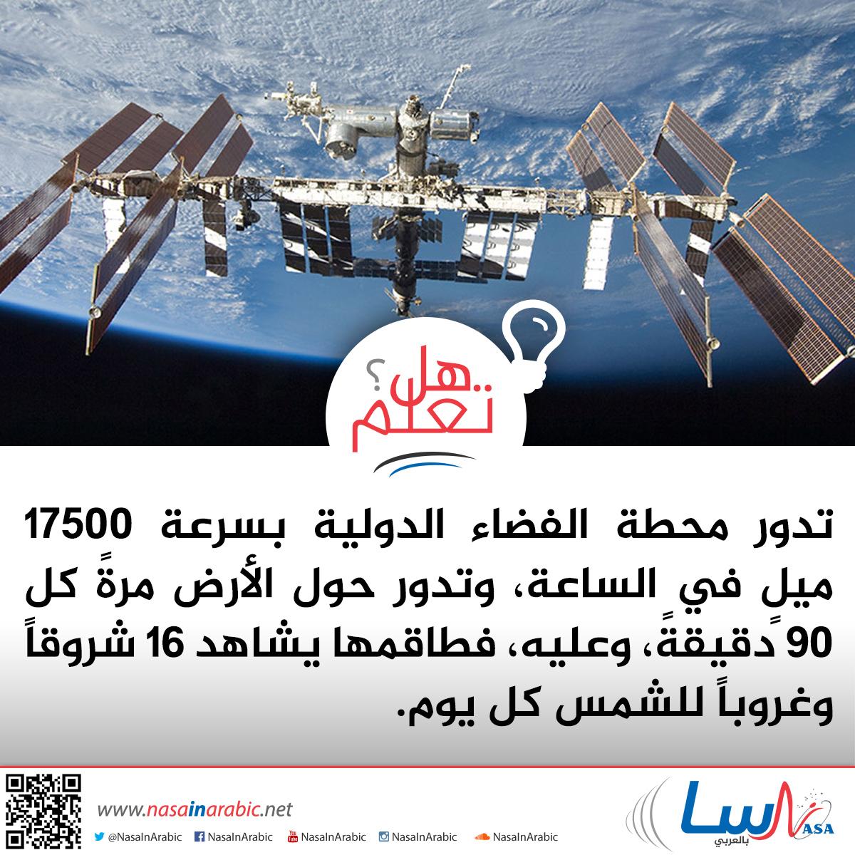 كم شروق وغروب يشاهد طاقم محطة الفضاء الدولية؟