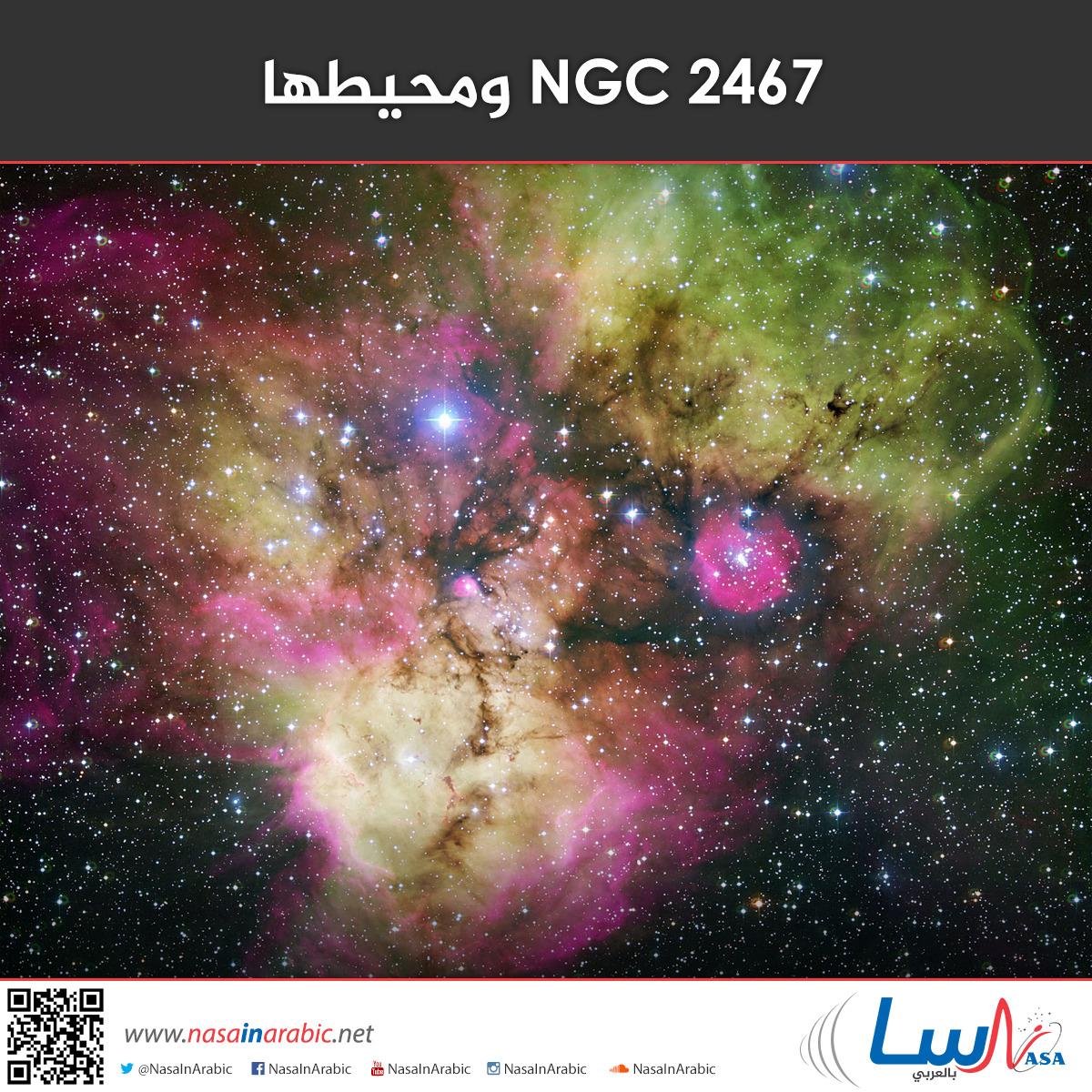 NGC 2467 ومحيطها