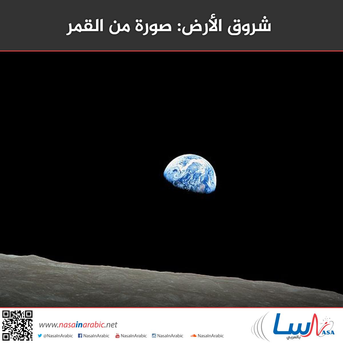 شروق الأرض: صورة من القمر