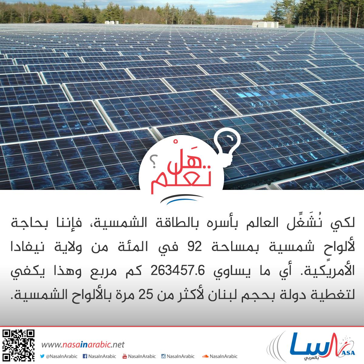 تشغيل العالم بالطاقة الشمسية