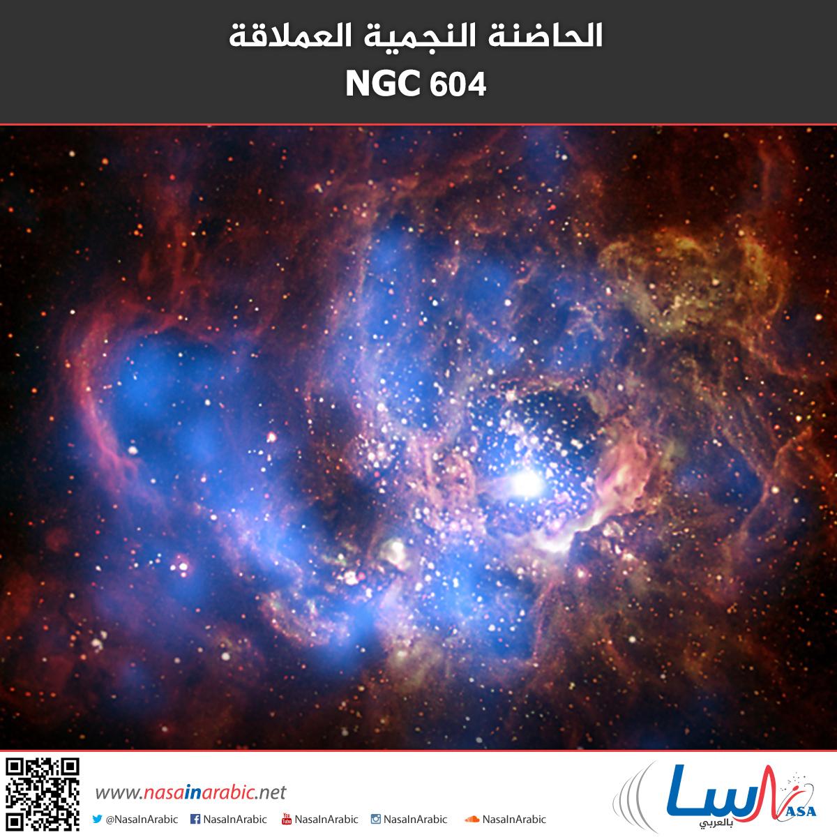 NGC 604 الأشعة السينيّة من الحاضنة النجمية العملاقة