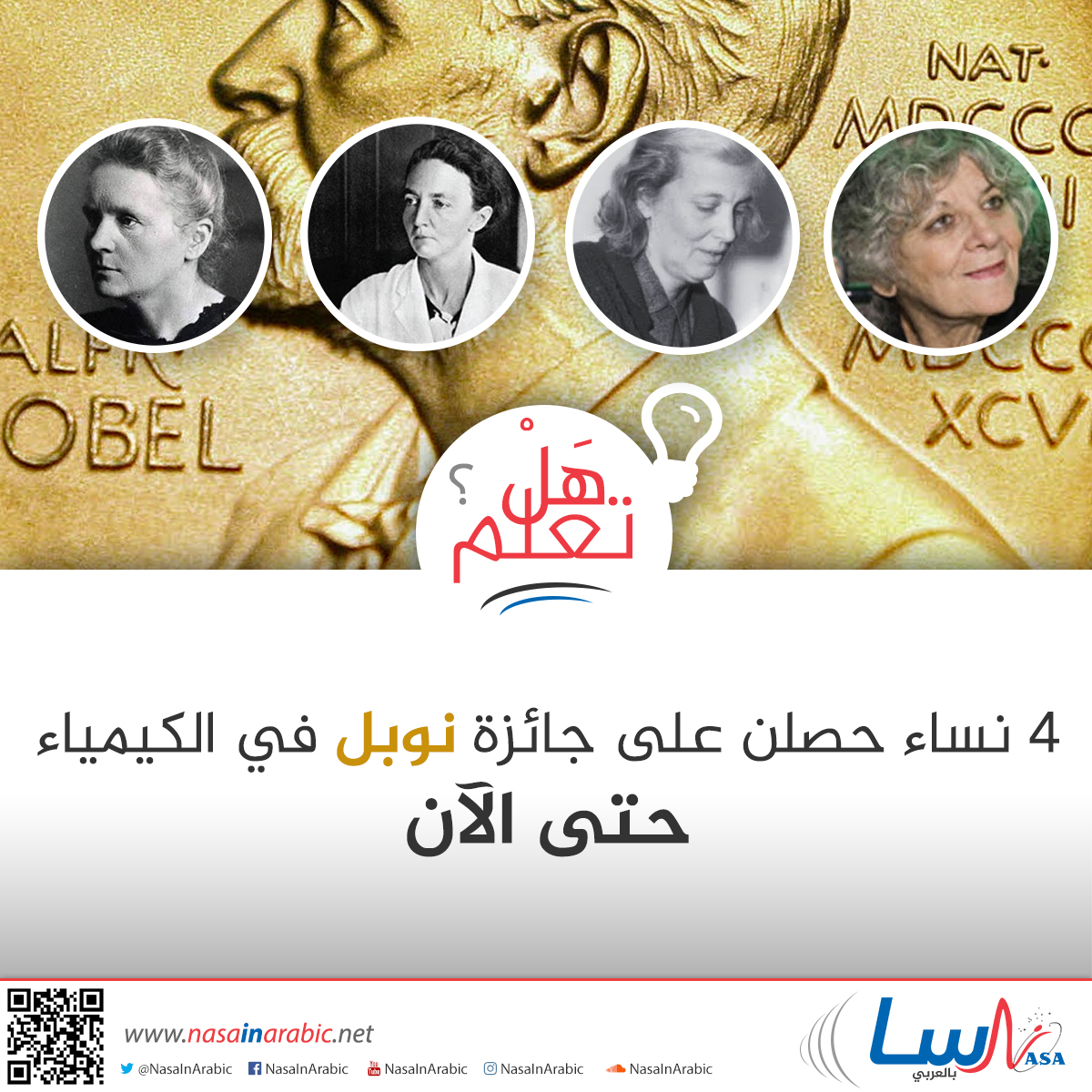 جائزة نوبل في الكيمياء للنساء