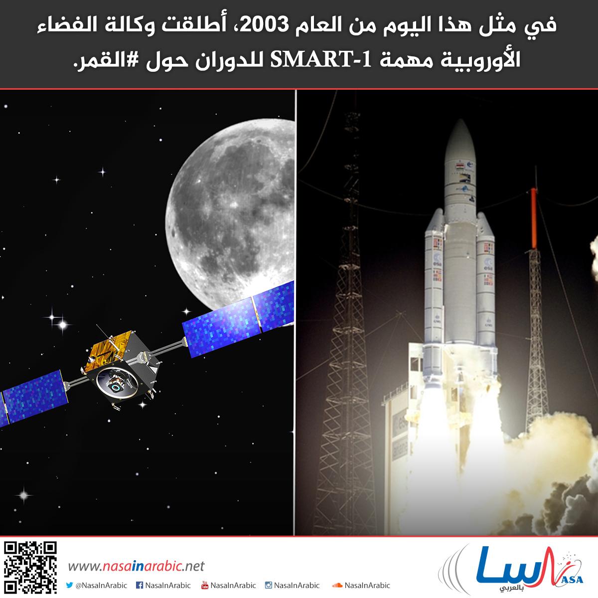 في مثل هذا اليوم من العام 2003، أطلقت وكالة الفضاء الأوروبية مهمة SMART-1 للدوران حول القمر