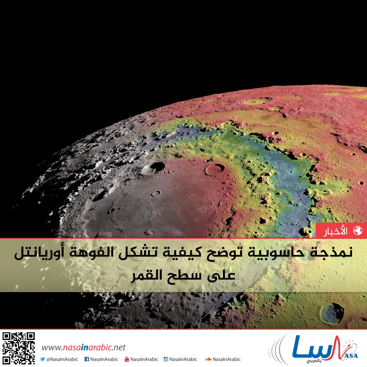 نمذجة حاسوبية توضح كيفية تشكل الفوهة أوريانتل على سطح القمر