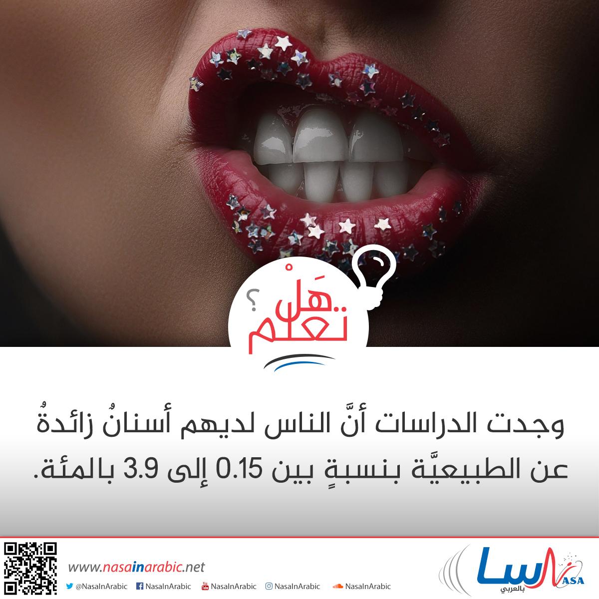 الأسنان الزائدة