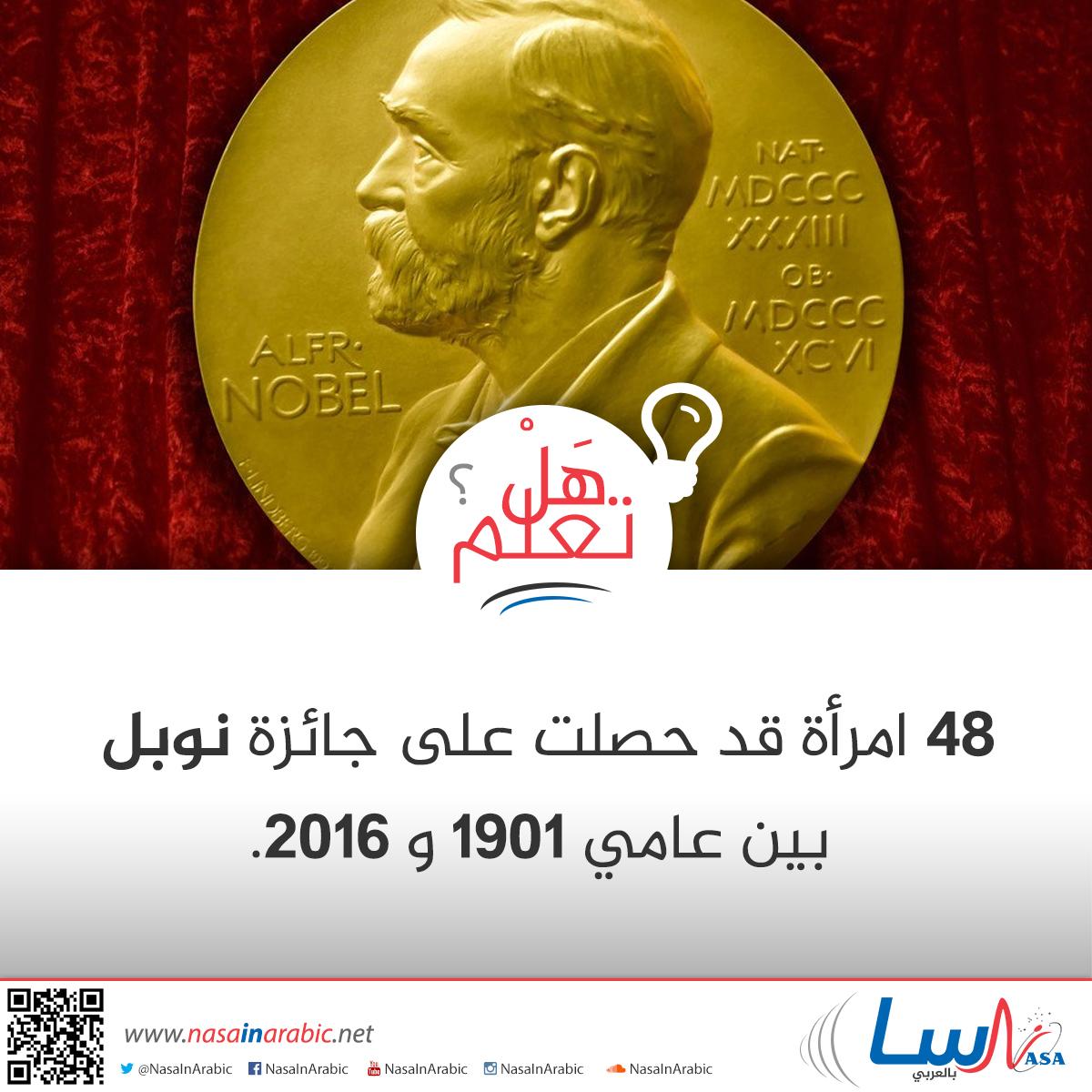 نصيب المرأة من جائزة نوبل