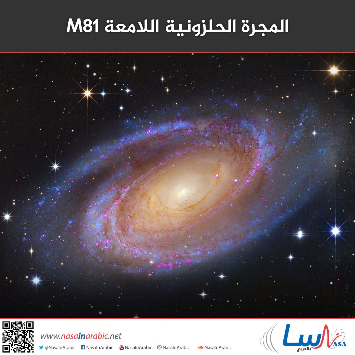 المجرة الحلزونية اللامعة M81