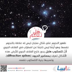 لماذا تظهر النجوم بشكل صلبان؟