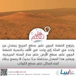 الضغط الجوي على سطح المريخ