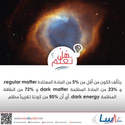 مم يتكون الكون؟