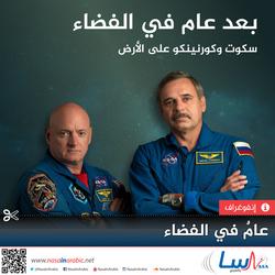 سكوت وكورنينكو على الأرض، بعد عام في الفضاء