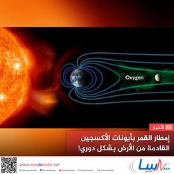 إمطار القمر بأيونات الأكسجين القادمة من الأرض بشكل دوري!