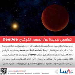 تفاصيل جديدة عن الجسم الكوكبي DeeDee!