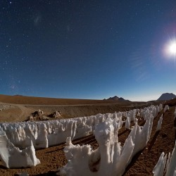 التائبين الجليديين في ضوء قمر شاشناتور