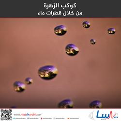 كوكب الزهرة من خلال قطرات ماء
