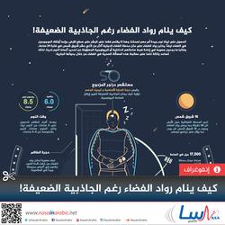 كيف ينام رواد الفضاء رغم الجاذبية الصغرى!
