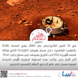 مسبار هويغنز والهبوط على سطح تيتان