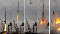 صاروخ ياباني خاص يصطدم بالأرض بعد فشلٍ كارثي في إطلاقه