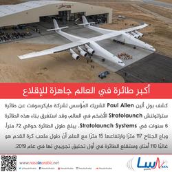 أكبر طائرة في العالم جاهزة للإقلاع