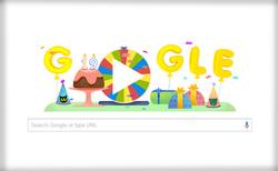 غوغل تحتفل بعيد ميلادها التاسع عشر