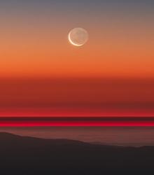 قمر كهل في مستهل الشهر القمري الجديد