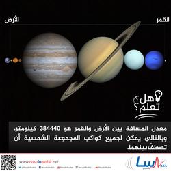 المسافة بين الأرض والقمر