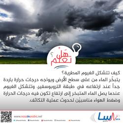 كيف تتشكل الغيوم المطرية؟