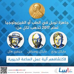 جاهزة نوبل في الطب أو الفيزيولوجيا لعام 2017