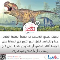 ذيل الديناصورات