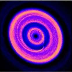 رصد حلقات وفجوات في نظام كوكبي متطور