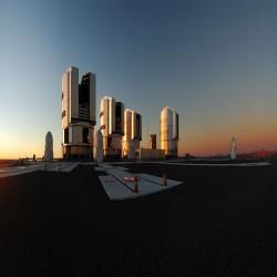 بانوراما لغروب الشمس فوق بارانال