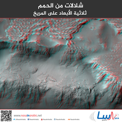 شلالات من الحمم ثلاثية الأبعاد على المريخ