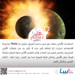 كيف تشكل القمر وفق إحدى النظريات؟