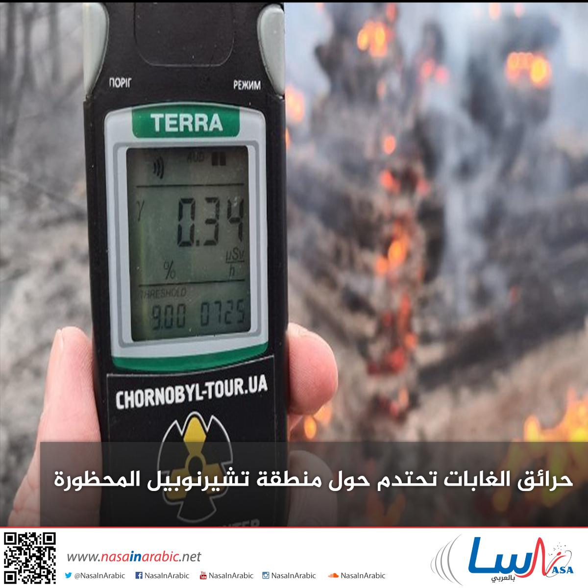 حرائق الغابات تحتدم حول منطقة تشيرنوبيل المحظورة